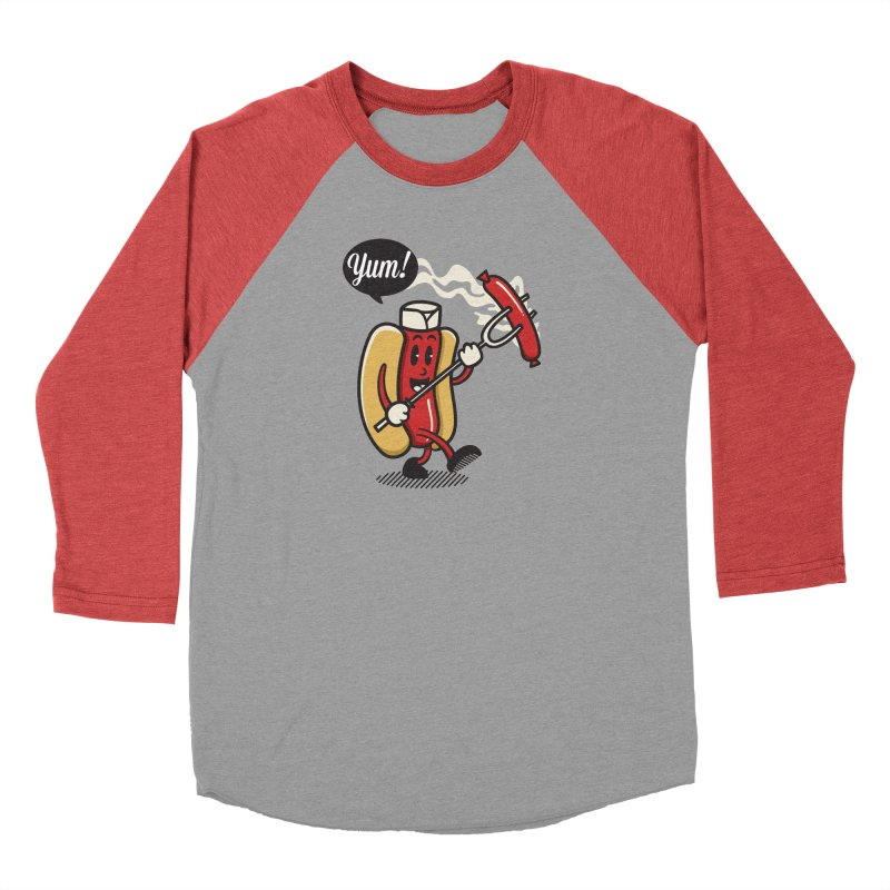 Hot Sausage! Women's Baseball Triblend Longsleeve T-Shirt by ALGS's Artist Shop