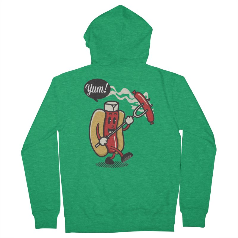 Hot Sausage! Women's French Terry Zip-Up Hoody by ALGS's Artist Shop