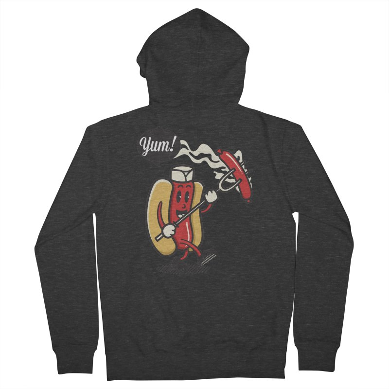Hot Sausage! Men's French Terry Zip-Up Hoody by ALGS's Artist Shop