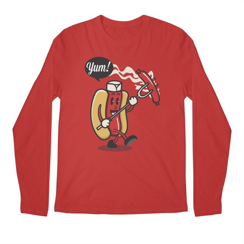 Hot Sausage! Men's Regular Longsleeve T-Shirt by ALGS's Artist Shop