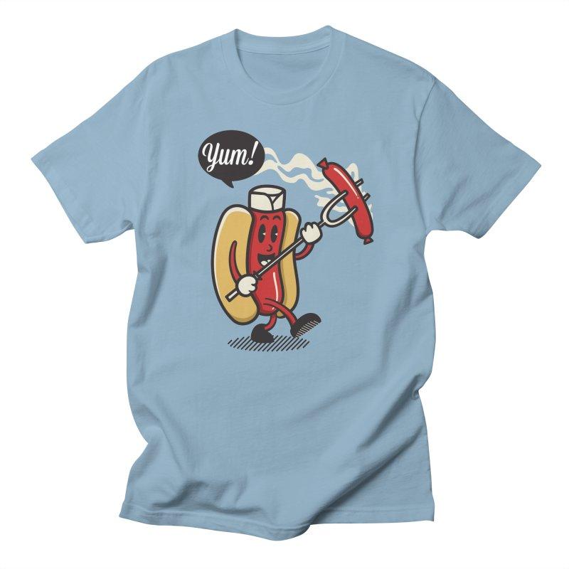 Hot Sausage! Men's Regular T-Shirt by ALGS's Artist Shop