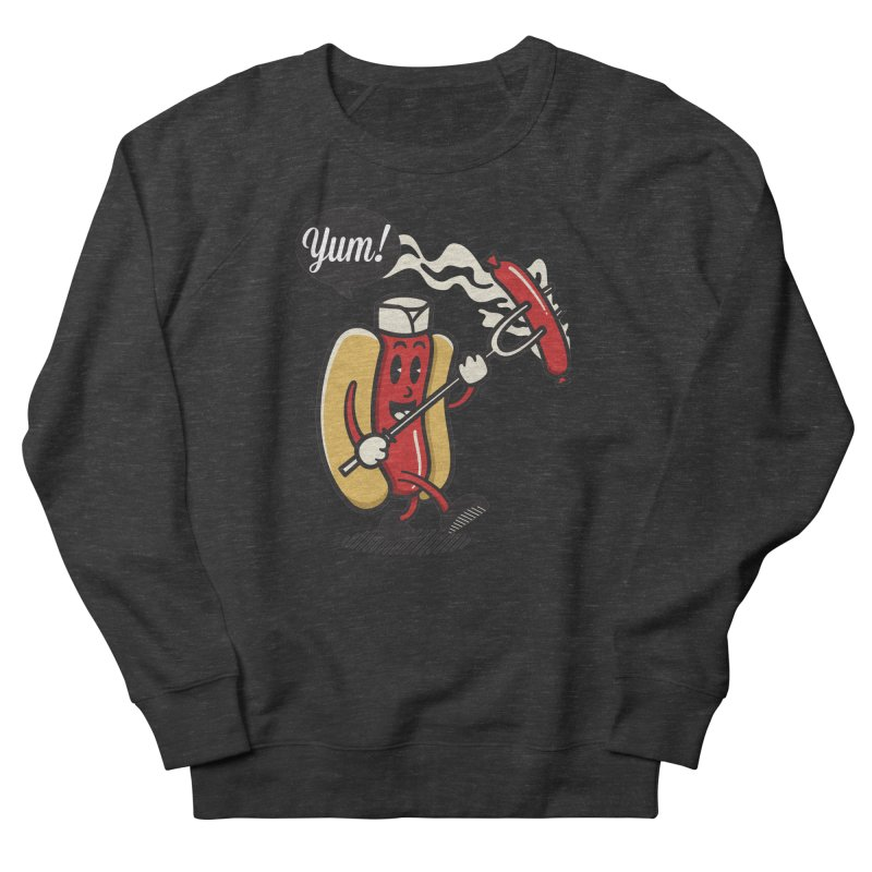 Hot Sausage! Women's French Terry Sweatshirt by ALGS's Artist Shop