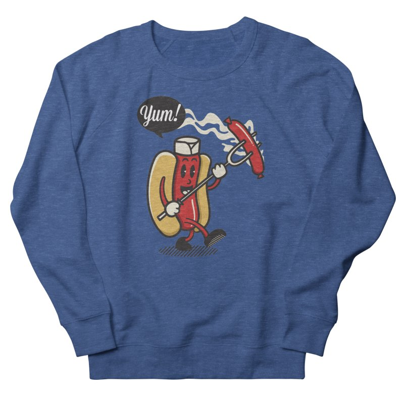 Hot Sausage! Men's French Terry Sweatshirt by ALGS's Artist Shop