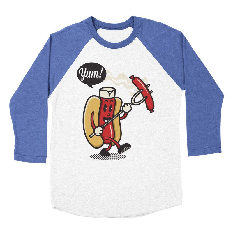 Hot Sausage! Women's Baseball Triblend T-Shirt by ALGS's Artist Shop