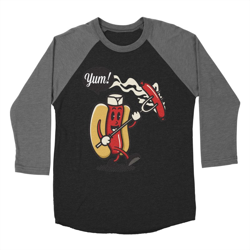 Hot Sausage! Women's Baseball Triblend Longsleeve T-Shirt by ALGS's Artist Shop