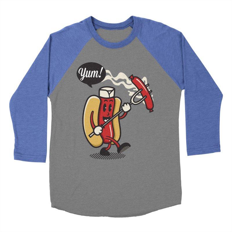 Hot Sausage! Men's Baseball Triblend Longsleeve T-Shirt by ALGS's Artist Shop
