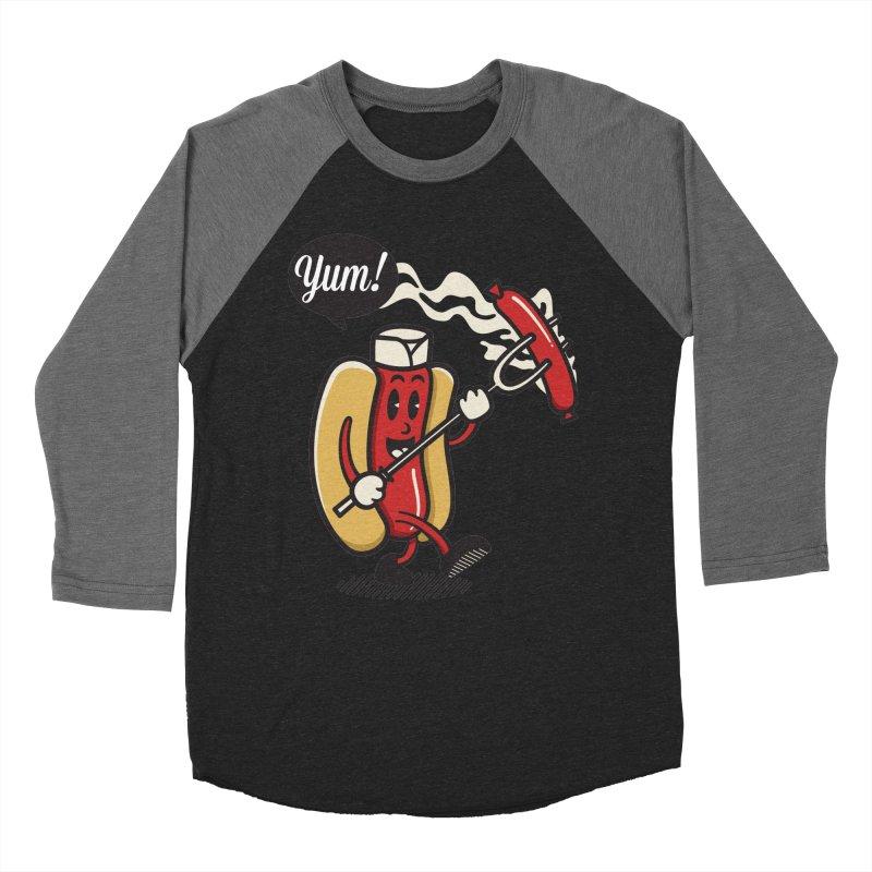 Hot Sausage! Men's Baseball Triblend T-Shirt by ALGS's Artist Shop