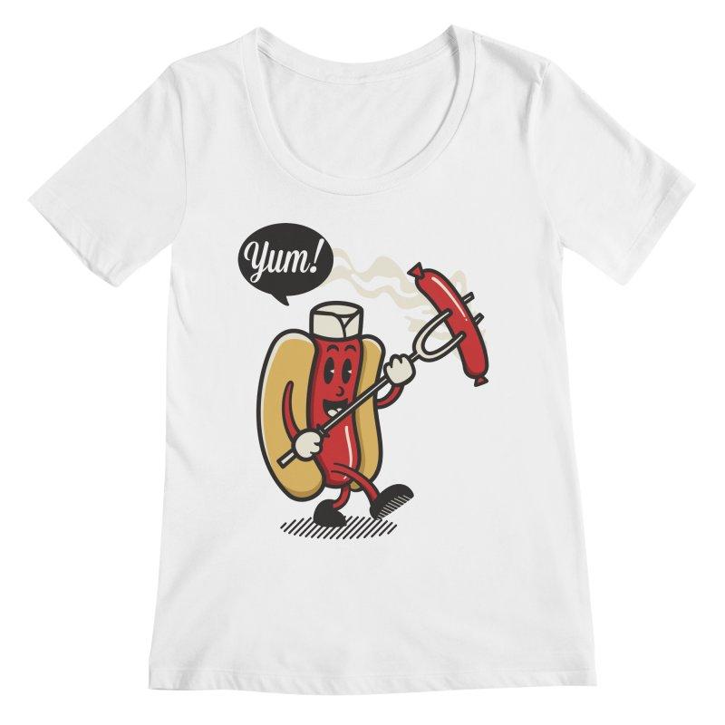 Hot Sausage! Women's Regular Scoop Neck by ALGS's Artist Shop