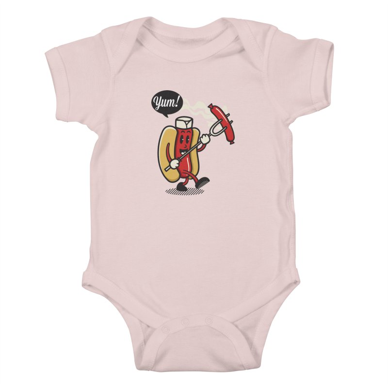 Hot Sausage! Kids Baby Bodysuit by ALGS's Artist Shop
