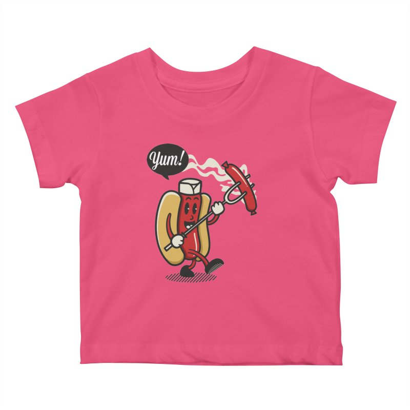 Hot Sausage! Kids Baby T-Shirt by ALGS's Artist Shop