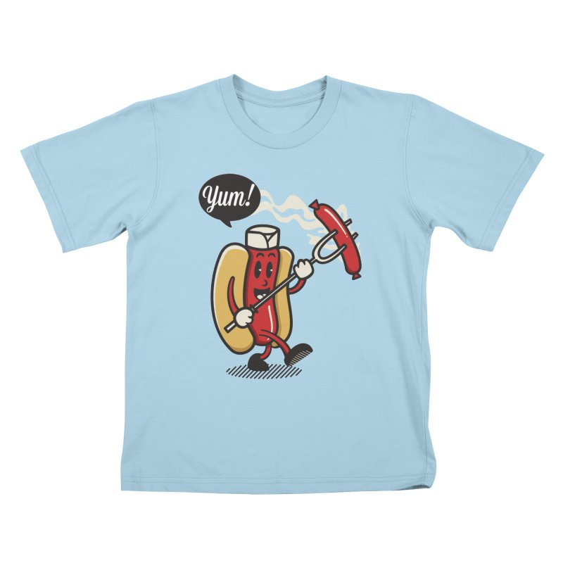 Hot Sausage! Kids T-Shirt by ALGS's Artist Shop