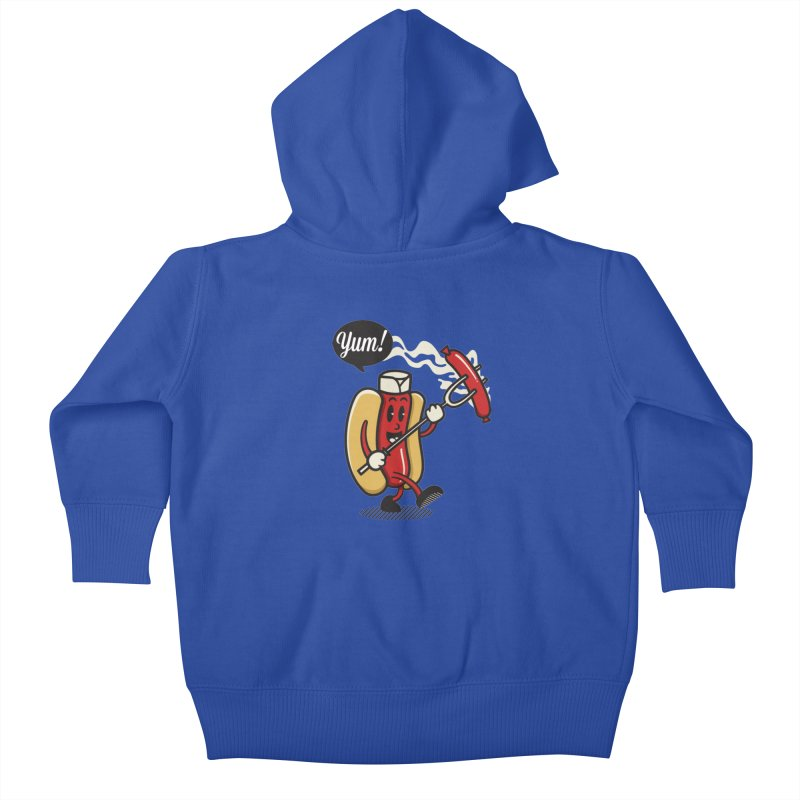 Hot Sausage! Kids Baby Zip-Up Hoody by ALGS's Artist Shop