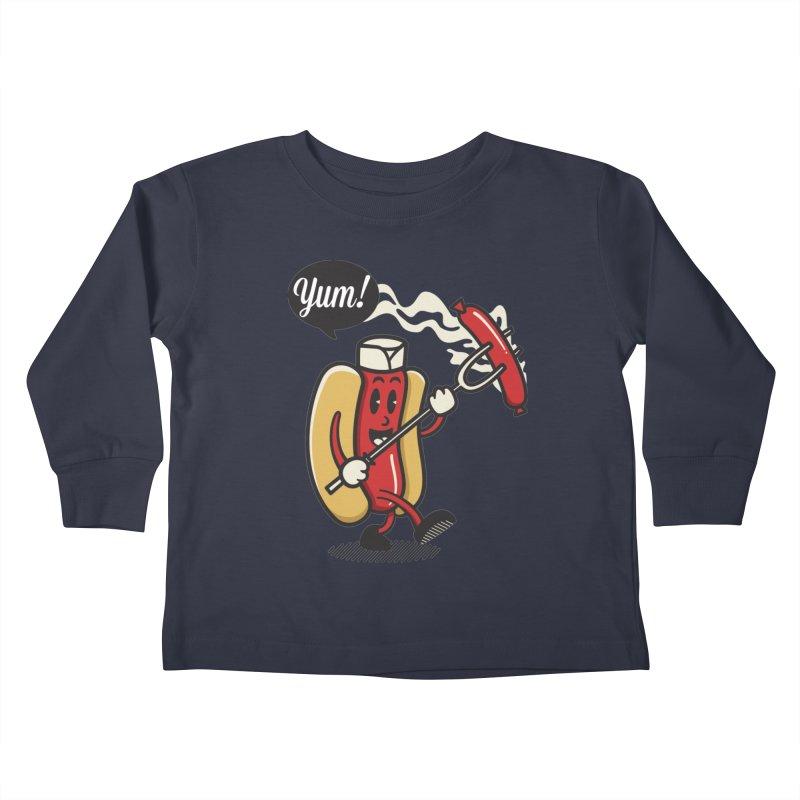Hot Sausage! Kids Toddler Longsleeve T-Shirt by ALGS's Artist Shop