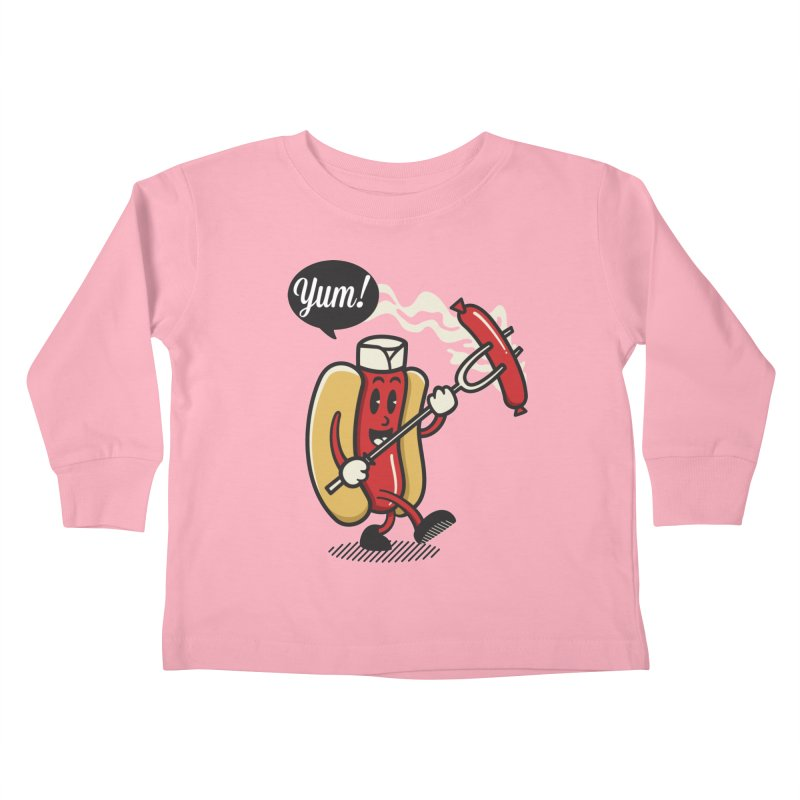 Hot Sausage! Kids Toddler Longsleeve T-Shirt by ALGS's Artist Shop