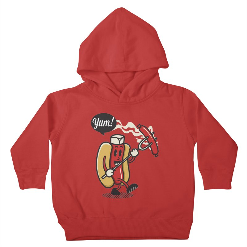 Hot Sausage! Kids Toddler Pullover Hoody by ALGS's Artist Shop