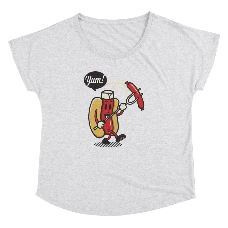 Hot Sausage! Women's Dolman Scoop Neck by ALGS's Artist Shop