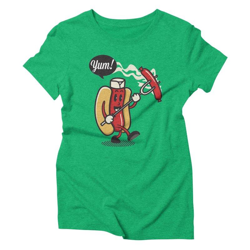 Hot Sausage! Women's Triblend T-Shirt by ALGS's Artist Shop