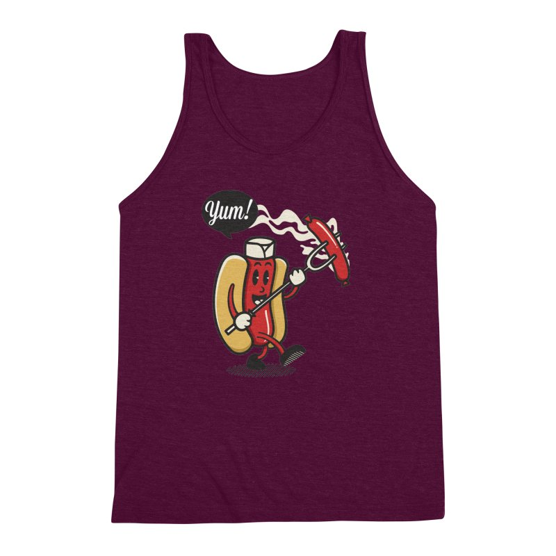 Hot Sausage! Men's Triblend Tank by ALGS's Artist Shop