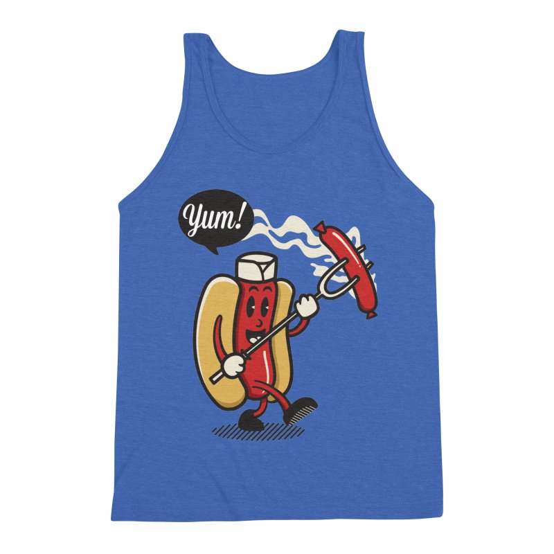 Hot Sausage! Men's Triblend Tank by ALGS's Artist Shop