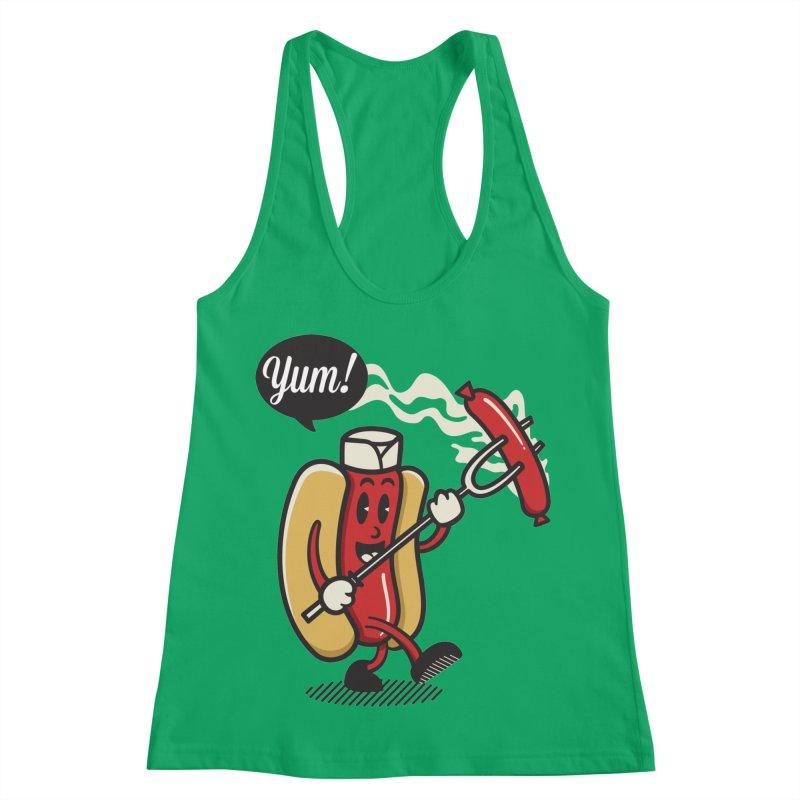 Hot Sausage! Women's Racerback Tank by ALGS's Artist Shop