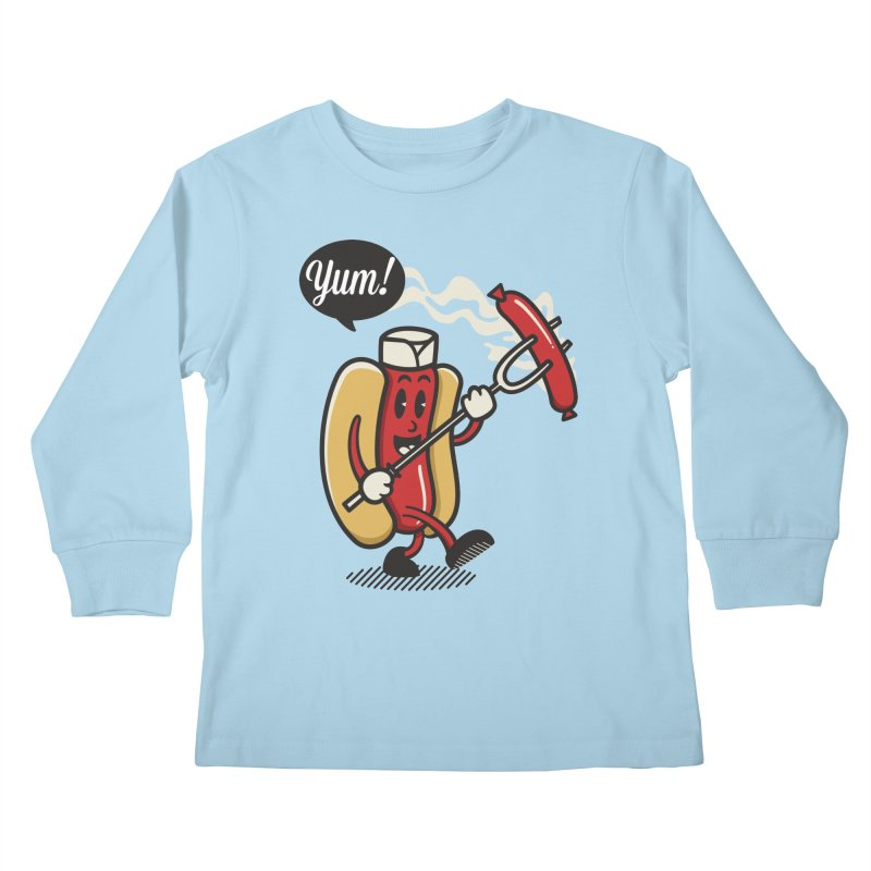 Hot Sausage! Kids Longsleeve T-Shirt by ALGS's Artist Shop