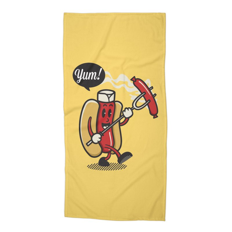 Hot Sausage! Accessories Beach Towel by ALGS's Artist Shop