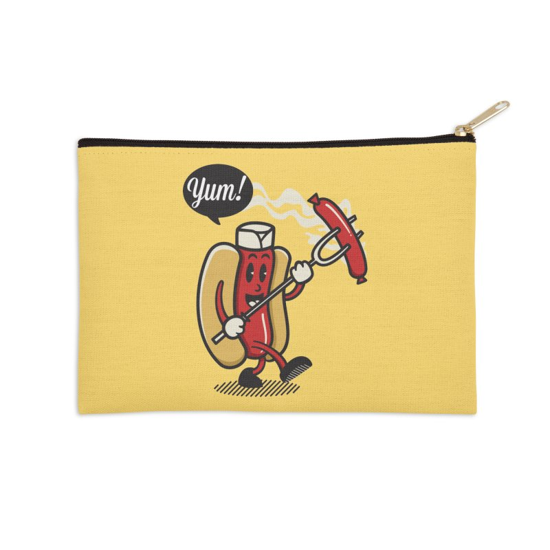 Hot Sausage! Accessories Zip Pouch by ALGS's Artist Shop