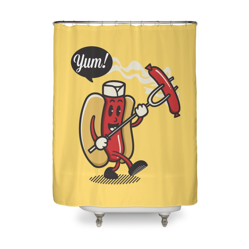 Hot Sausage! Home Shower Curtain by ALGS's Artist Shop