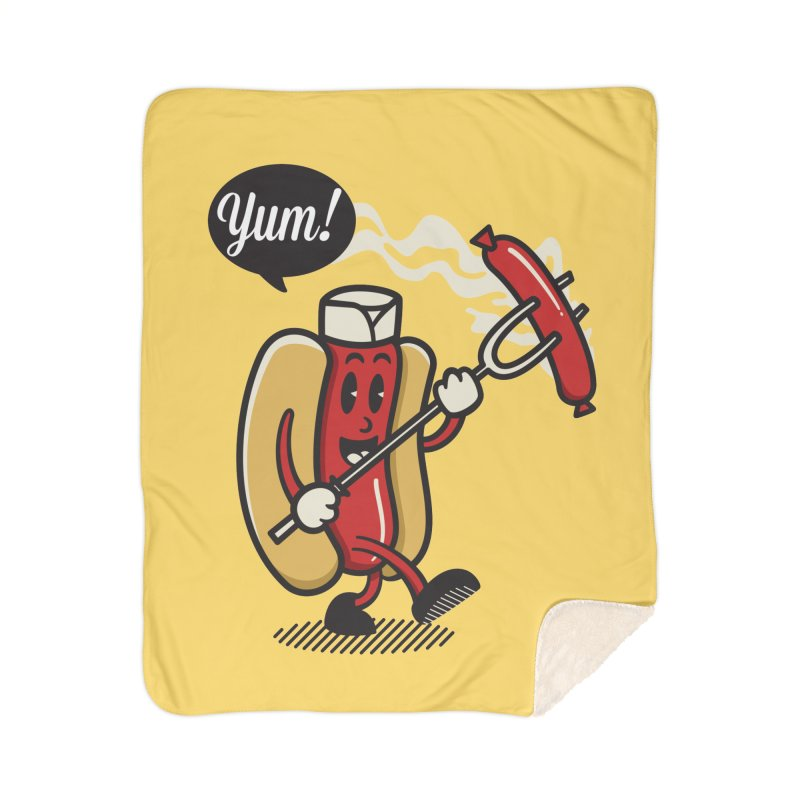 Hot Sausage! Home Sherpa Blanket Blanket by ALGS's Artist Shop