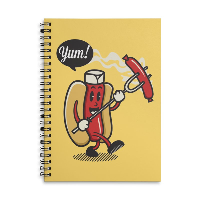 Hot Sausage! Accessories Lined Spiral Notebook by ALGS's Artist Shop