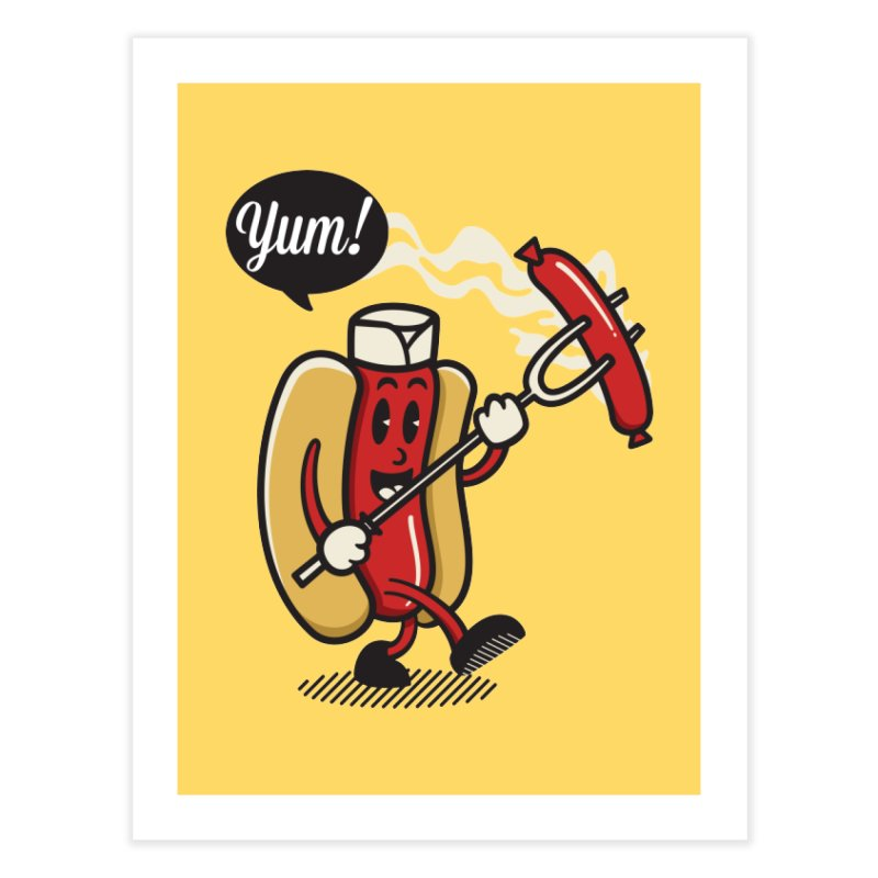 Hot Sausage! Home Fine Art Print by ALGS's Artist Shop