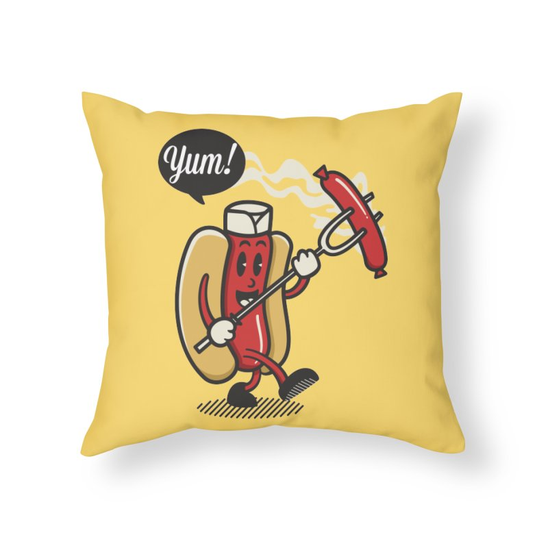 Hot Sausage! Home Throw Pillow by ALGS's Artist Shop