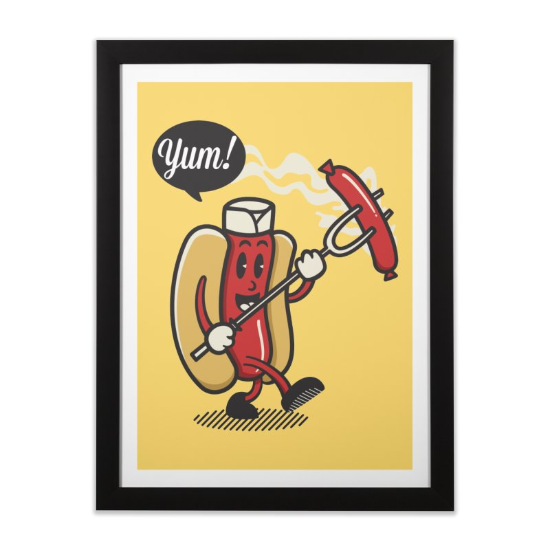 Hot Sausage! Home Framed Fine Art Print by ALGS's Artist Shop