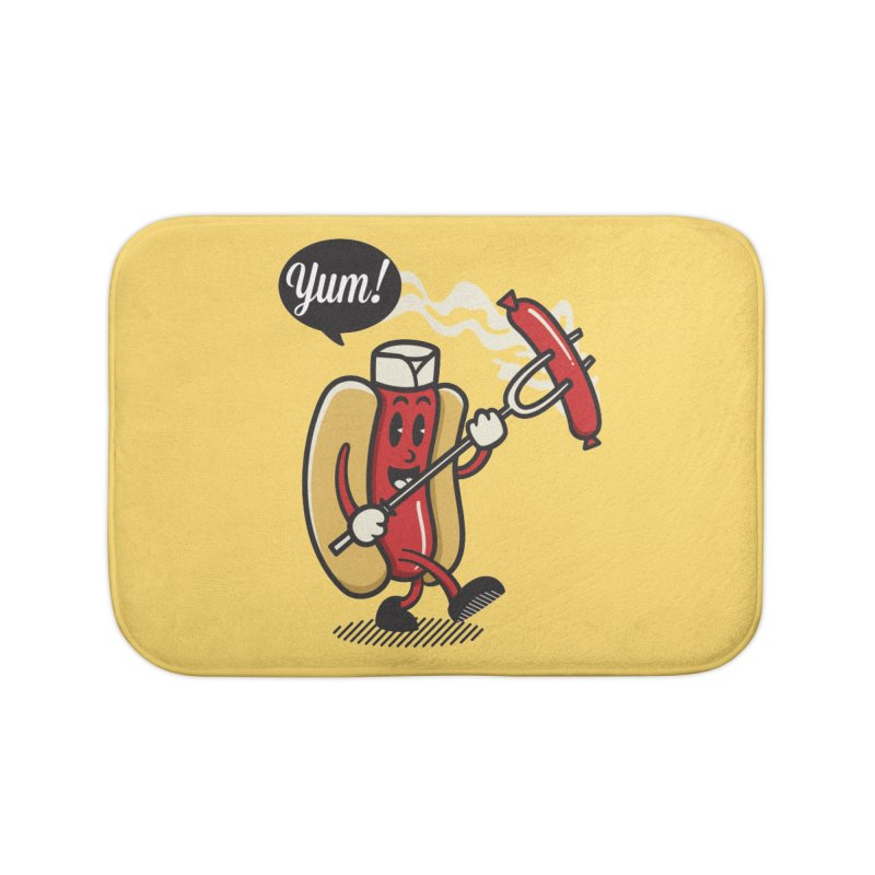 Hot Sausage! Home Bath Mat by ALGS's Artist Shop