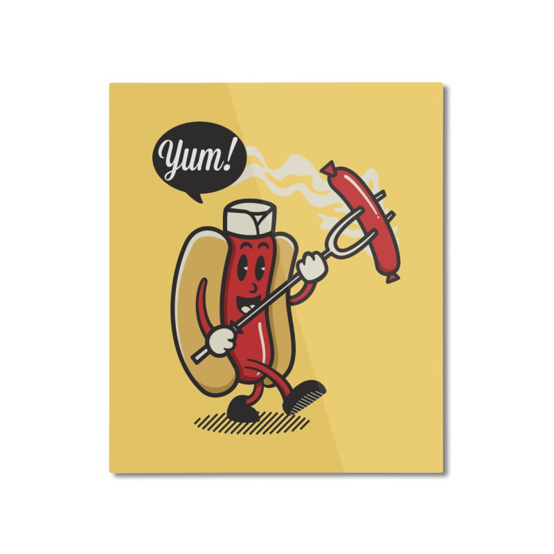 Hot Sausage! Home Mounted Aluminum Print by ALGS's Artist Shop