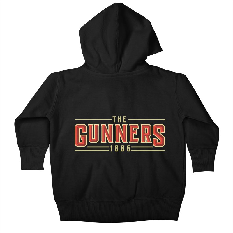 THE GUNNERS Kids Baby Zip-Up Hoody by ALGS's Artist Shop