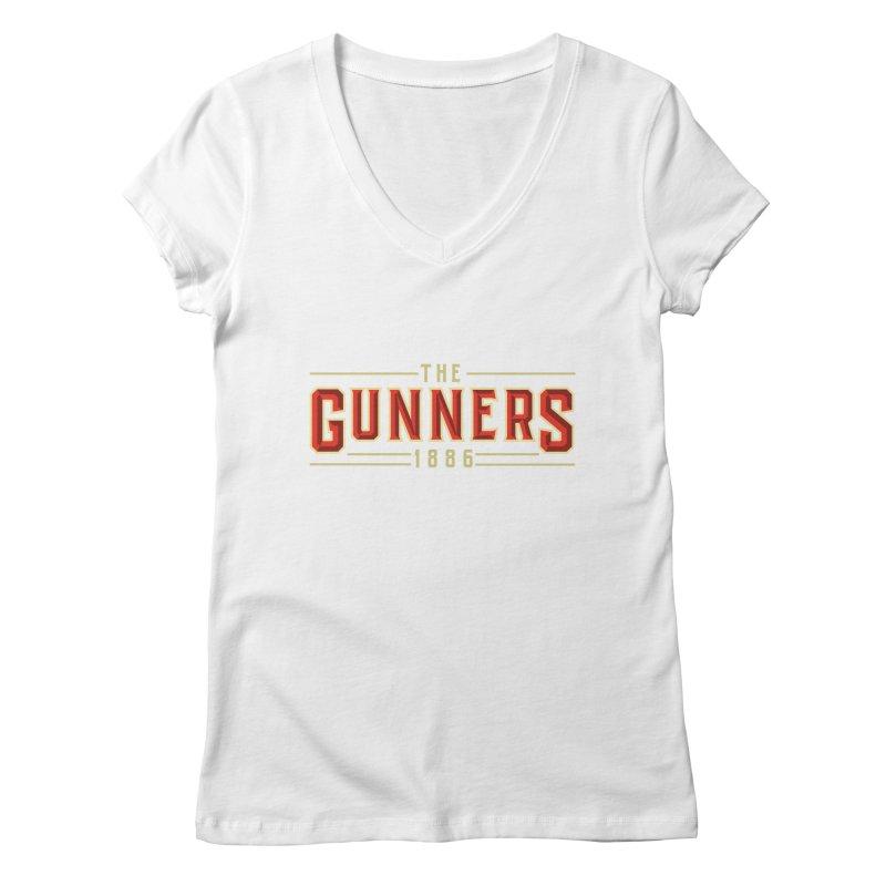 THE GUNNERS Women's Regular V-Neck by ALGS's Artist Shop