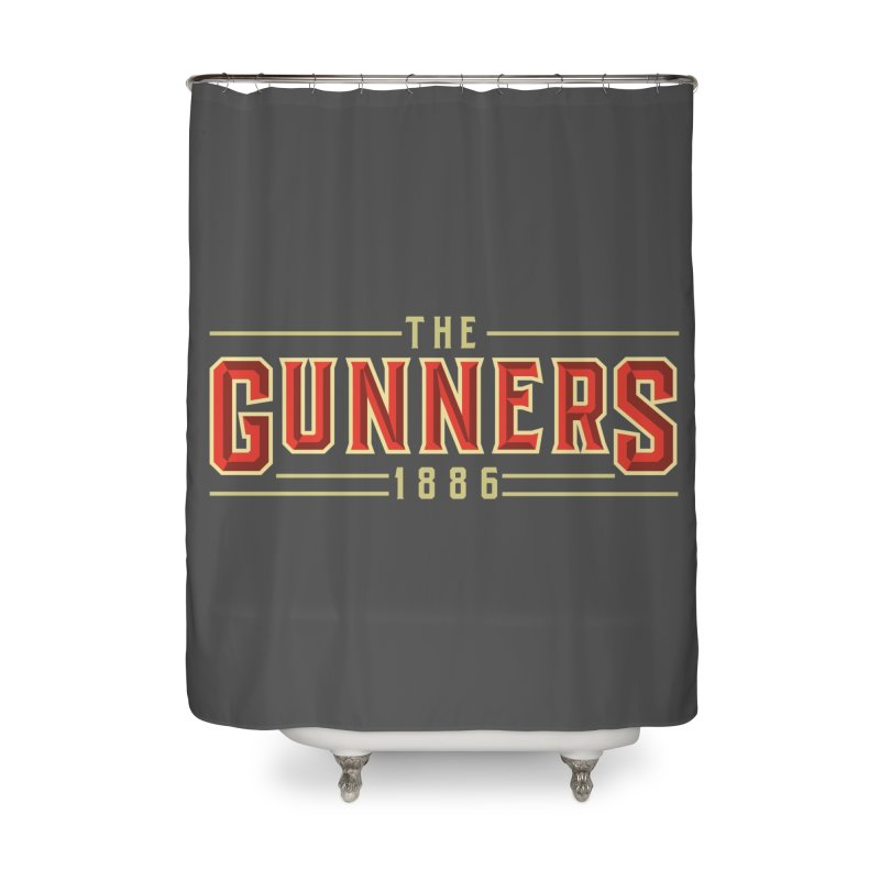 THE GUNNERS Home Shower Curtain by ALGS's Artist Shop