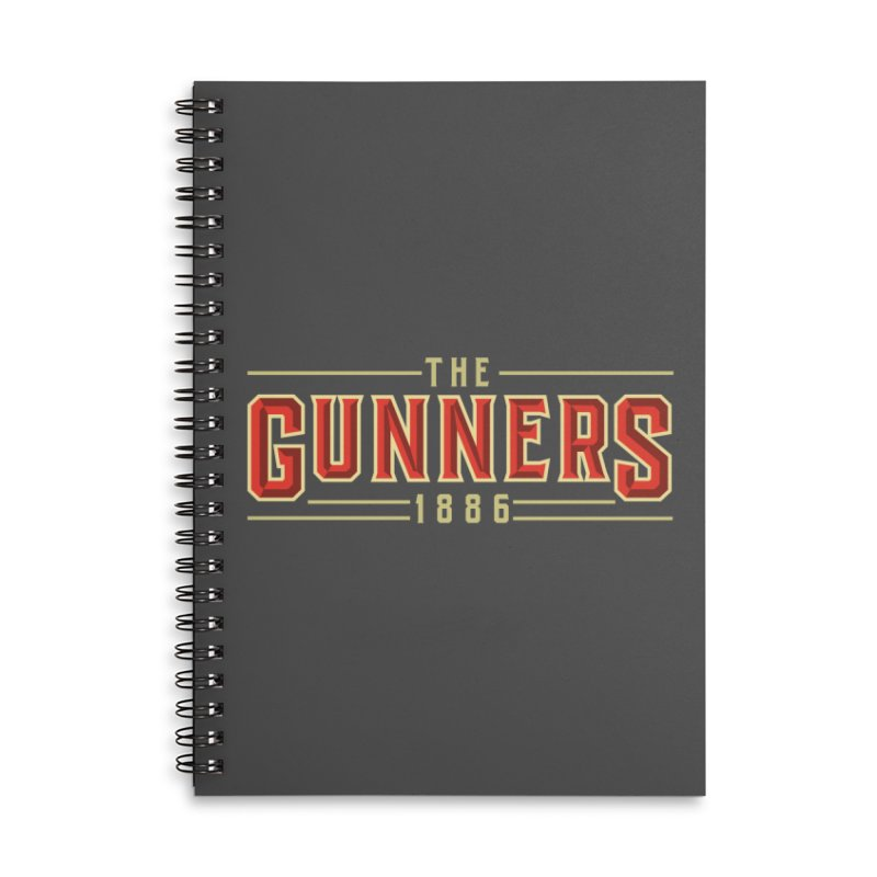 THE GUNNERS Accessories Lined Spiral Notebook by ALGS's Artist Shop