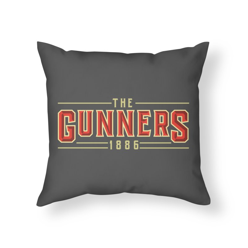 THE GUNNERS Home Throw Pillow by ALGS's Artist Shop