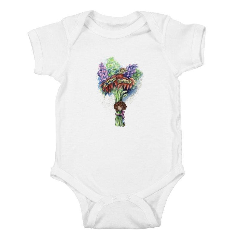 Flower Hug Kids Baby Bodysuit by alicemdraws's Artist Shop