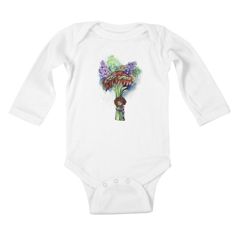 Flower Hug Kids Baby Longsleeve Bodysuit by alicemdraws's Artist Shop