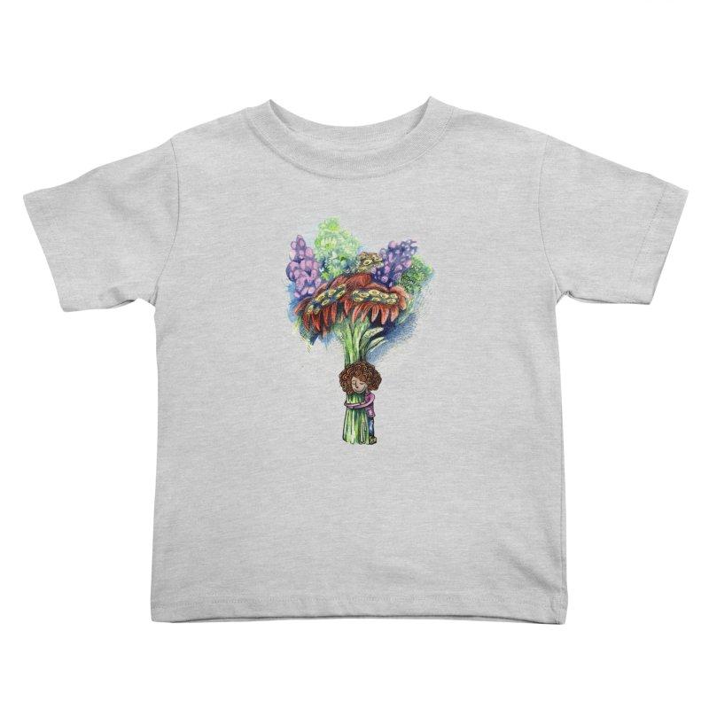 Flower Hug Kids Toddler T-Shirt by alicemdraws's Artist Shop