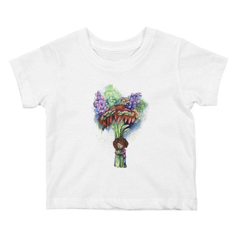 Flower Hug Kids Baby T-Shirt by alicemdraws's Artist Shop