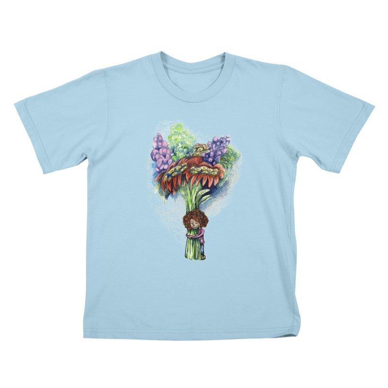 Flower Hug Kids T-Shirt by alicemdraws's Artist Shop