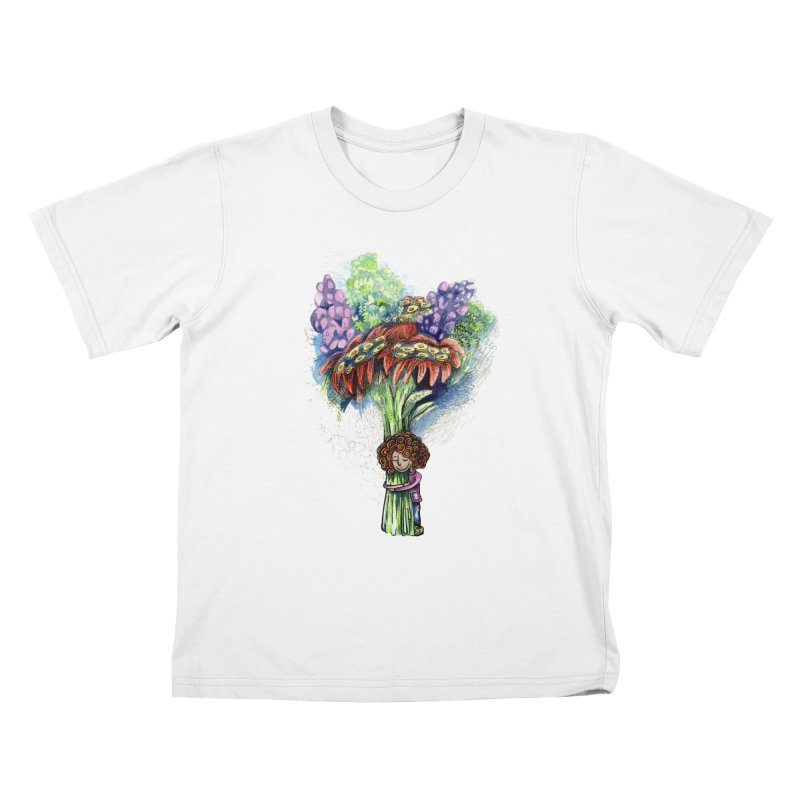 Flower Hug Kids T-Shirt by alicemdraws's Artist Shop