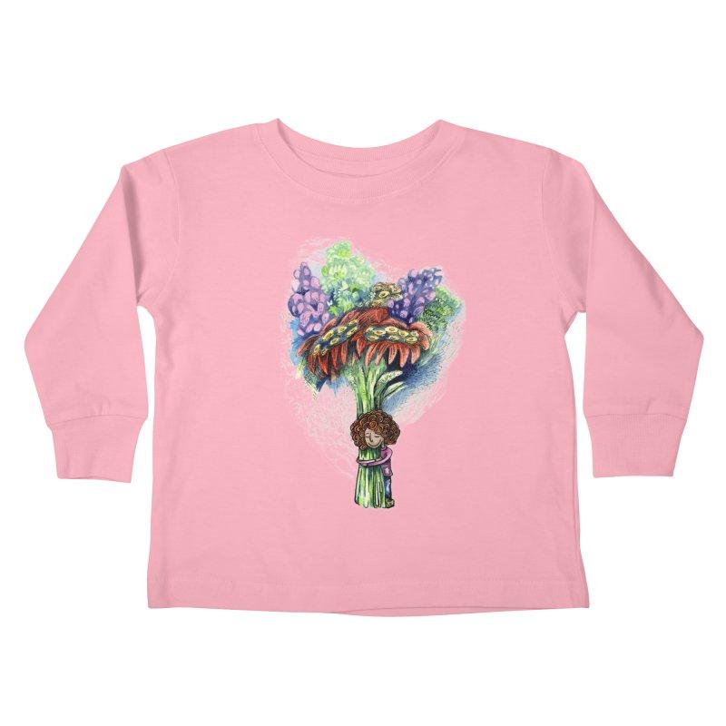 Flower Hug Kids Toddler Longsleeve T-Shirt by alicemdraws's Artist Shop