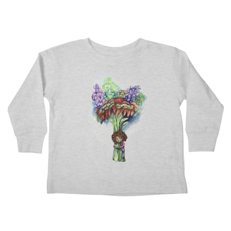 Flower Hug Kids Toddler Longsleeve T-Shirt by alicemdraws's Artist Shop