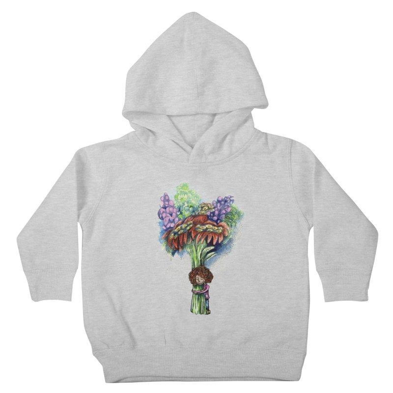 Flower Hug Kids Toddler Pullover Hoody by alicemdraws's Artist Shop