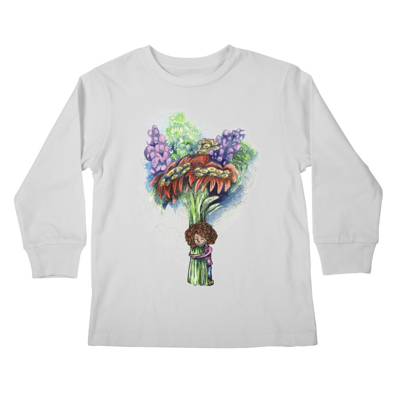 Flower Hug Kids Longsleeve T-Shirt by alicemdraws's Artist Shop